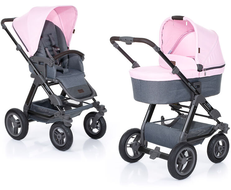 Abc Design Viper 4 Stroller With Carrycot Rose