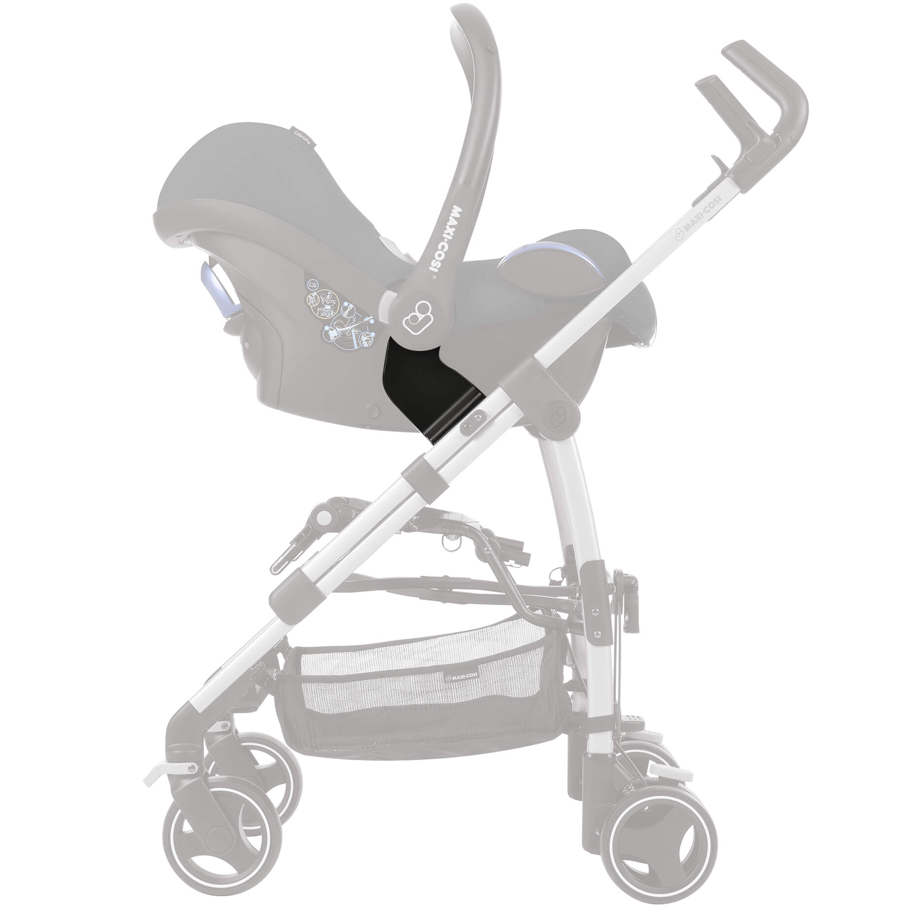 Maxi Cosi Adapter Set Fur Babyschale Auf Dana Buggy