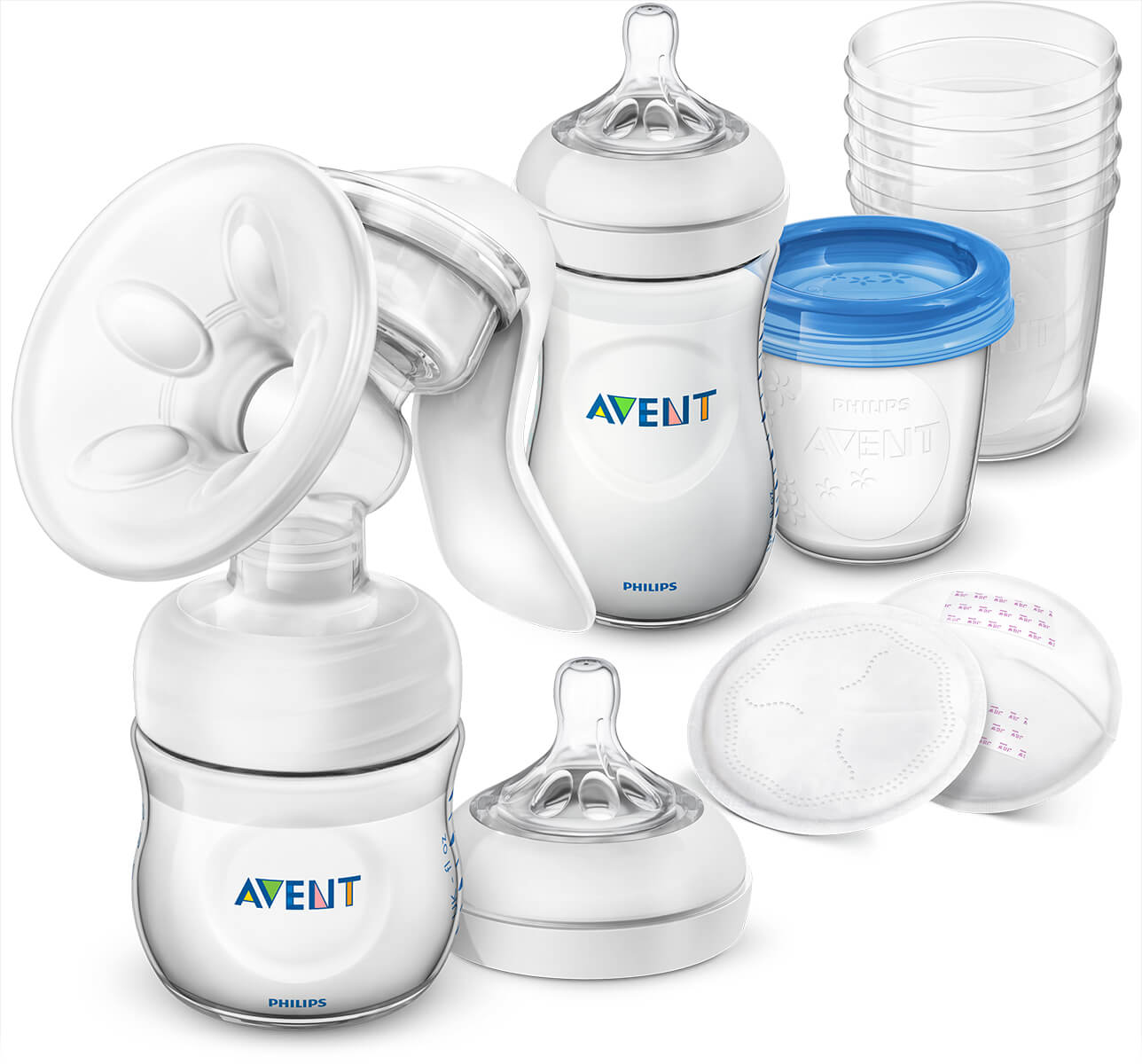 Philips Avent Breastfeeding Set With Manual Breastpump